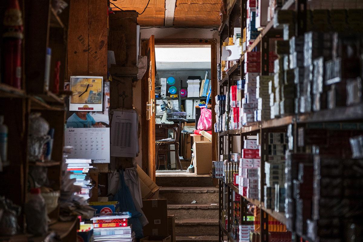 cluttered back room