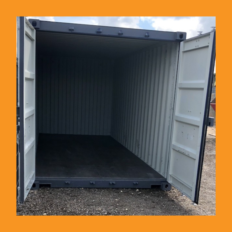 Inside of Self Storage Container